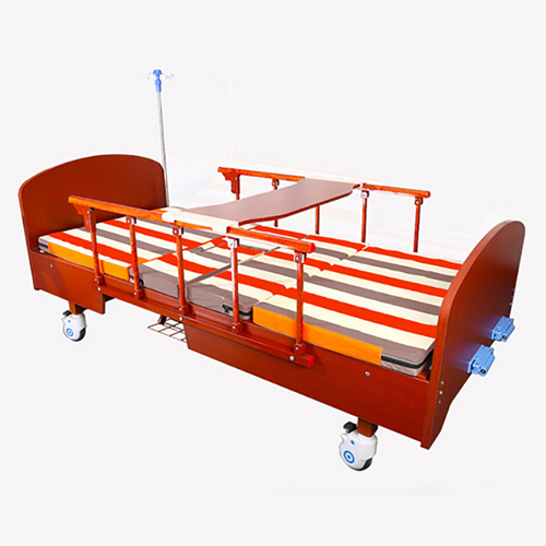 Multifunctional Wooden Nursing Hospital Bed Image 4