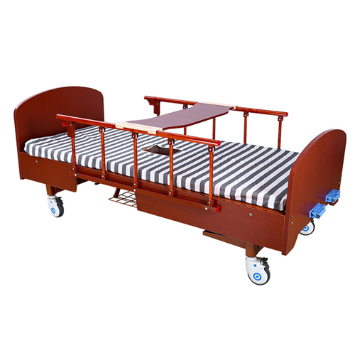 Multifunctional Wooden Nursing Hospital Bed Image 7