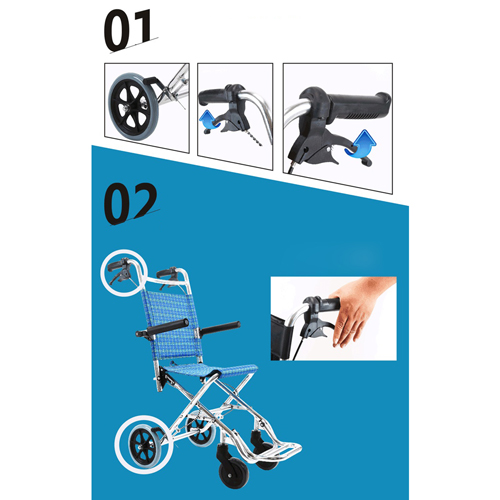Aircraft Lightweight Foldable Wheelchair Image 10
