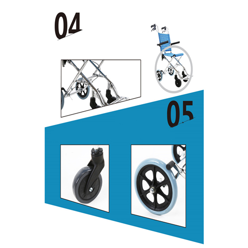Aircraft Lightweight Foldable Wheelchair Image 12