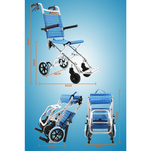 Aircraft Lightweight Foldable Wheelchair Image 15