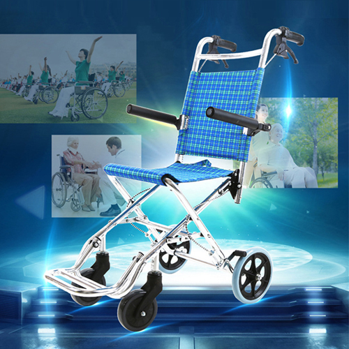 Aircraft Lightweight Foldable Wheelchair Image 2