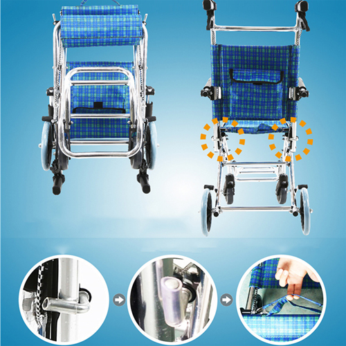 Aircraft Lightweight Foldable Wheelchair Image 3