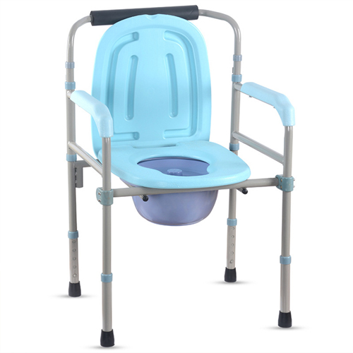 Foldable Elderly Stainless Steel Commode Chair