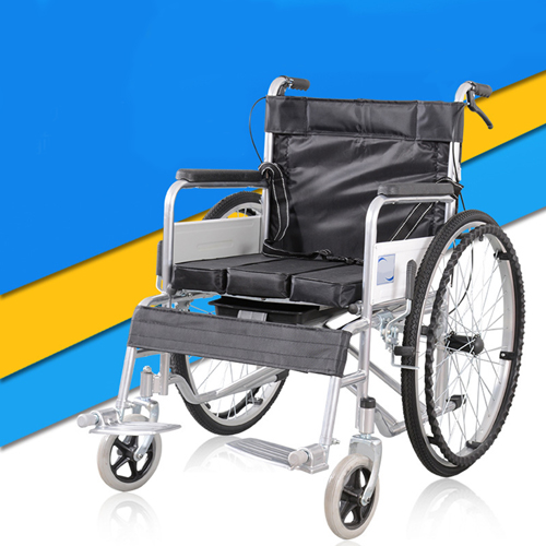 Manual Portable Folding Wheelchair Image 1
