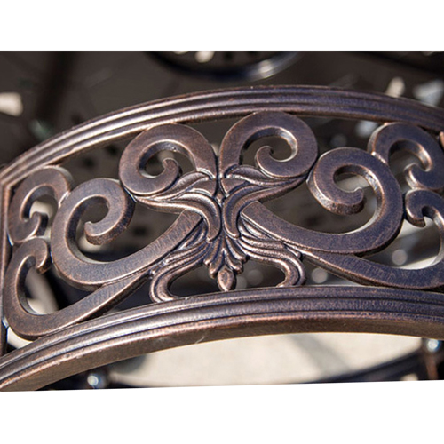 Patio Cast Aluminum Table Chair Set Image 10
