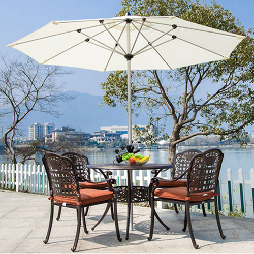 Patio Cast Aluminum Table Chair Set Image 2