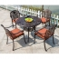 Patio Cast Aluminum Table Chair Set