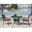 Patio Cast Aluminum Table Chair Set Image 4