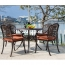Patio Cast Aluminum Table Chair Set Image 5