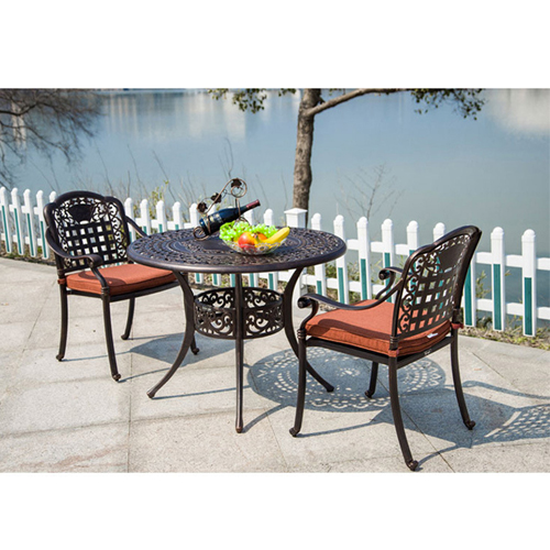 Patio Cast Aluminum Table Chair Set Image 6