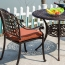 Patio Cast Aluminum Table Chair Set Image 7