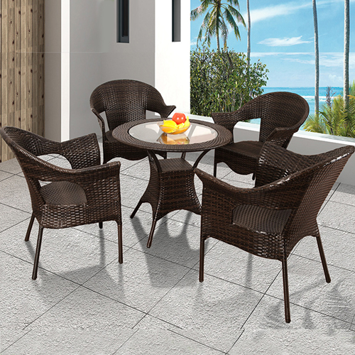 Outdoor Wicker 5 Piece Chair Set Image 1