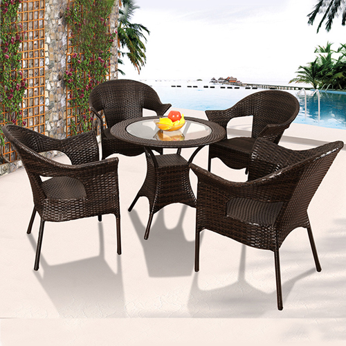 Outdoor Wicker 5 Piece Chair Set Image 2