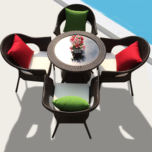 Outdoor Wicker 5 Piece Chair Set Image 3