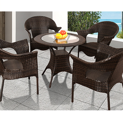 Outdoor Wicker 5 Piece Chair Set Image 5
