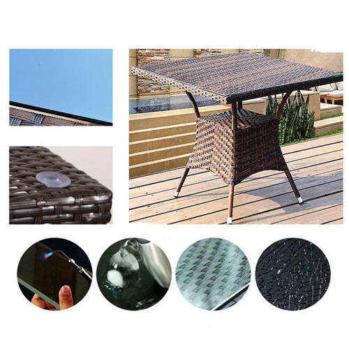 Alumix Outdoor Wicker Square 5-Piece Set Image 10