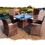 Alumix Outdoor Wicker Square 5-Piece Set