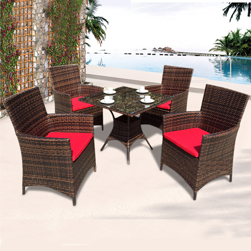Alumix Outdoor Wicker Square 5-Piece Set Image 2