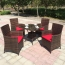 Alumix Outdoor Wicker Square 5-Piece Set Image 4