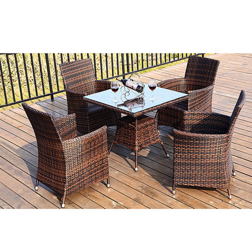 Alumix Outdoor Wicker Square 5-Piece Set Image 6