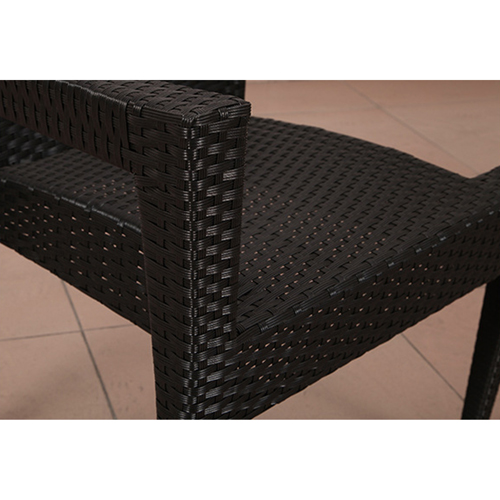 Square Table Wicker Chair Set Image 9