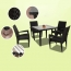 Square Table Wicker Chair Set Image 4