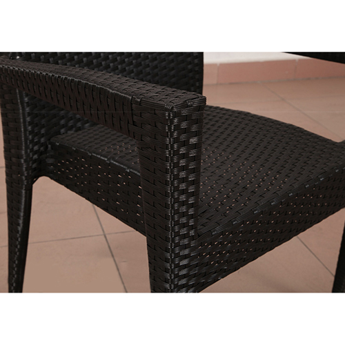 Square Table Wicker Chair Set Image 5