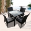 Outdoor Patio Rattan Bistro Furniture Set Image 1