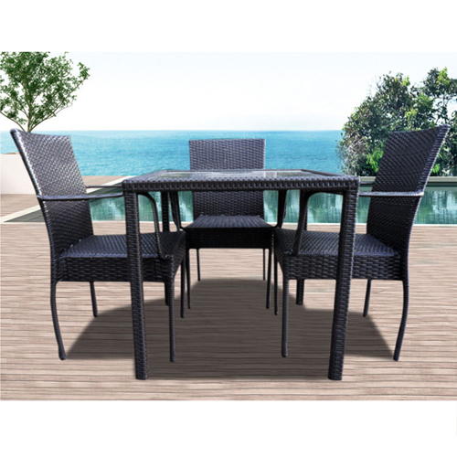Outdoor Patio Rattan Bistro Furniture Set Image 3