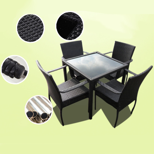 Outdoor Patio Rattan Bistro Furniture Set Image 4