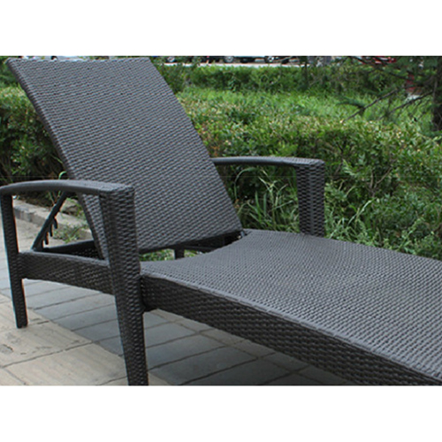 Rattan Folding Beach Lounge Chair Image 9