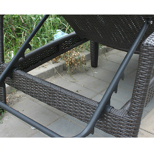 Rattan Folding Beach Lounge Chair Image 11