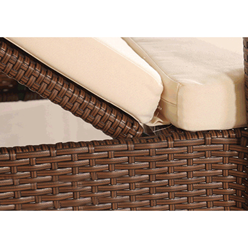 Rattan Folding Beach Lounge Chair Image 12
