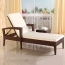 Rattan Folding Beach Lounge Chair Image 3