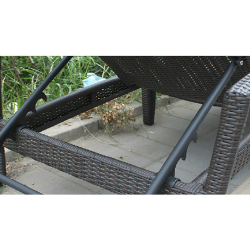 Rattan Folding Beach Lounge Chair Image 6