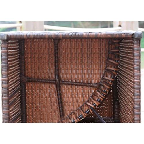Square Patio Rattan Chair Five-Piece Set Image 11