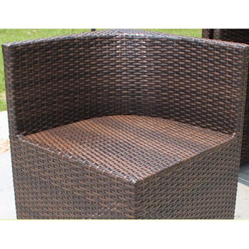 Square Patio Rattan Chair Five-Piece Set Image 12