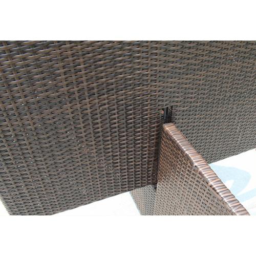 Square Patio Rattan Chair Five-Piece Set Image 13