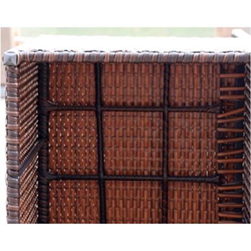 Square Patio Rattan Chair Five-Piece Set Image 14