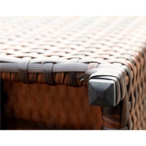 Square Patio Rattan Chair Five-Piece Set Image 15