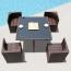 Square Patio Rattan Chair Five-Piece Set