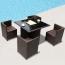 Square Patio Rattan Chair Five-Piece Set Image 2