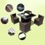 Square Patio Rattan Chair Five-Piece Set Image 7