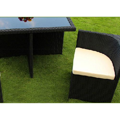 Square Patio Rattan Chair Five-Piece Set Image 8