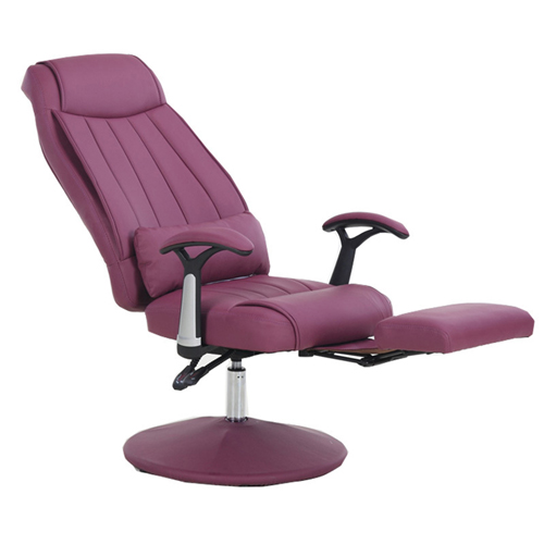 Executive Leather Footrest Armchair Image 2