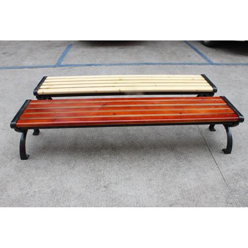 Outdoor Wood Long Garden Bench Image 10