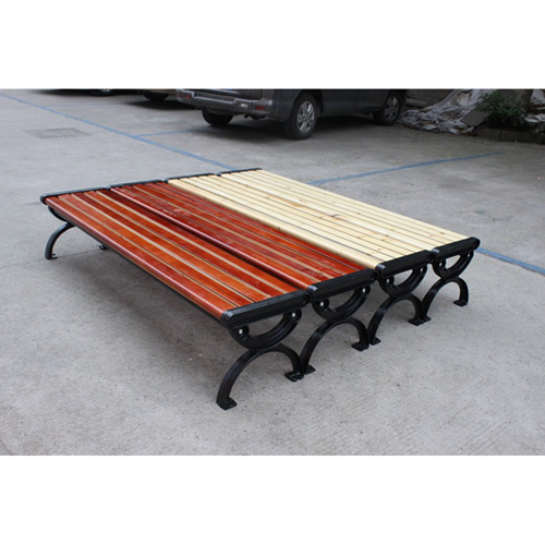 Outdoor Wood Long Garden Bench Image 11