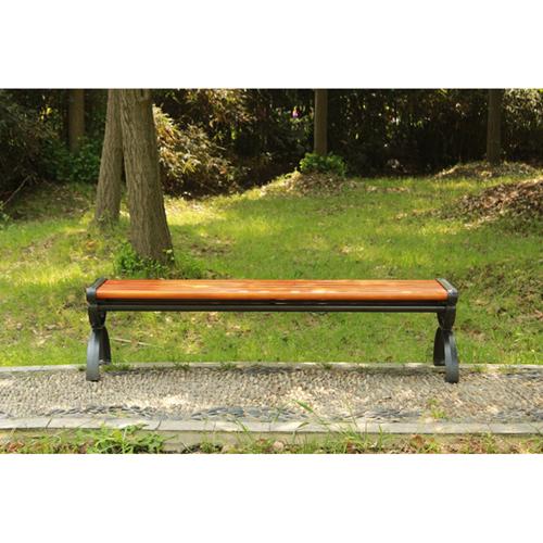 Outdoor Wood Long Garden Bench Image 14