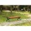Outdoor Wood Long Garden Bench Image 17
